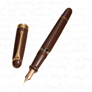 Aurora 88 Anniversary Brown Fountain Pen With Flex Nib