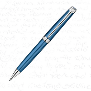 Caran d'Ache Leman Collection Grand Bleu, Silver Pl/Rhodium Coated Mechanical Pencil (0.7mm)