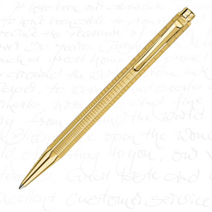 "Caran d'Ache Ecridor Collection ""Lignes Urbaines"" Gilded Ballpoint Pen"
