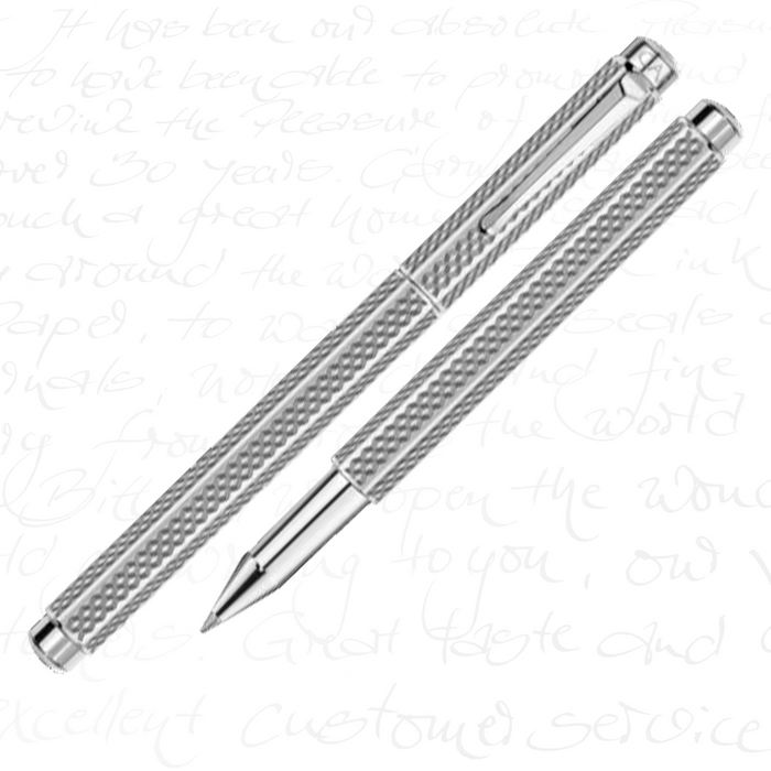 "Caran d'Ache Ecridor Collection ""Cubrik"" Palladium Coated Rollerball Pen"