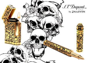 S.T. Dupont Haute Creation Tattoo Collection Rollerball Pen - Gold Catacombs