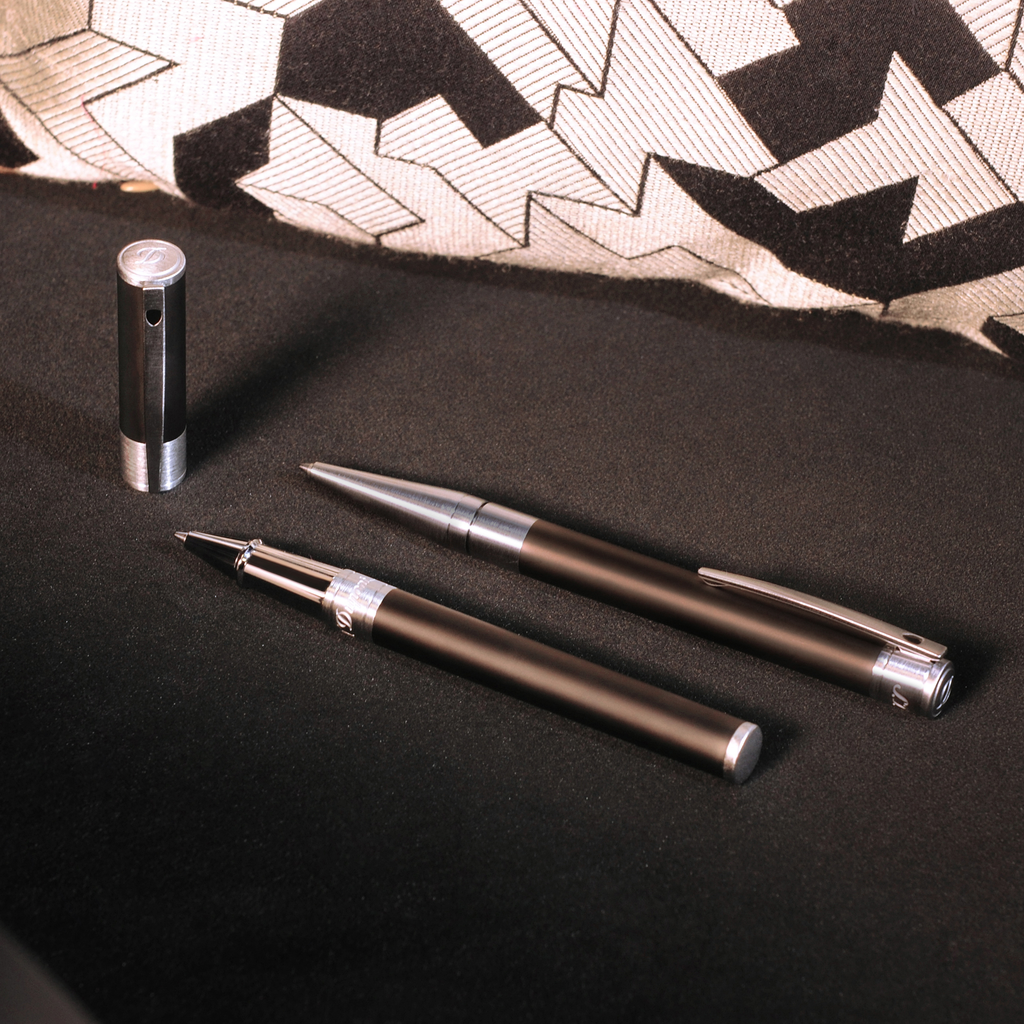 S.T. Dupont D-Initial Rollerball Pen - Matte Black