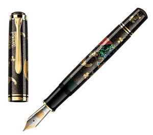 Pelikan Maki-e Five Lucky Bats Fountain Pen