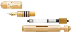 LOCLEN Electa Fountain Pen - Brushed Chrome