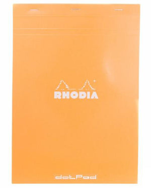 Rhodia No. 18 Notepad (A4) - Orange, Dot Grid