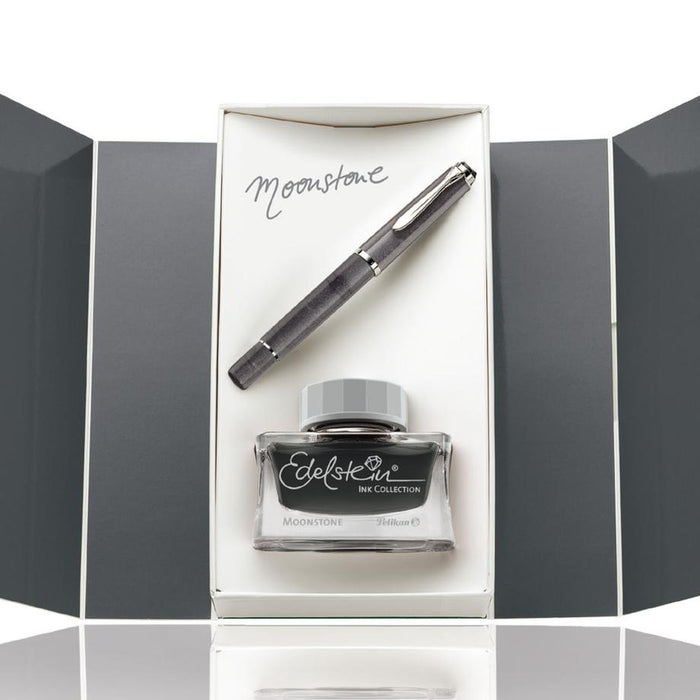 Pelikan Set Classic M205 Moonstone with Edelstein® Moonstone Ink of The Year 2020 (Pre-Order)