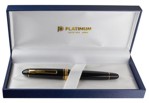 Platinum President Fountain Pen - Black w/ Gold Trim