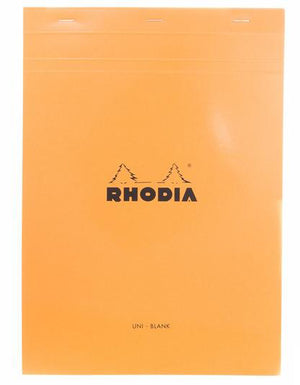 Rhodia No. 18 Notepad (A4) - Orange, Blank
