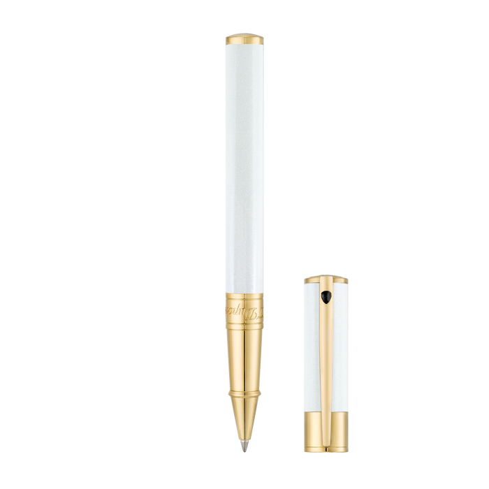 S.T. Dupont D-Initial Rollerball Pen - Pearly White