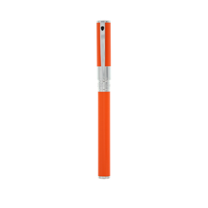 S.T. Dupont D-Initial Rollerball Pen - Orange & Chrome
