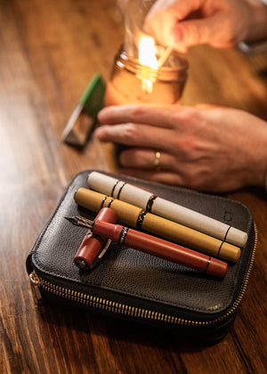 Visconti Leather Pen Sleeve