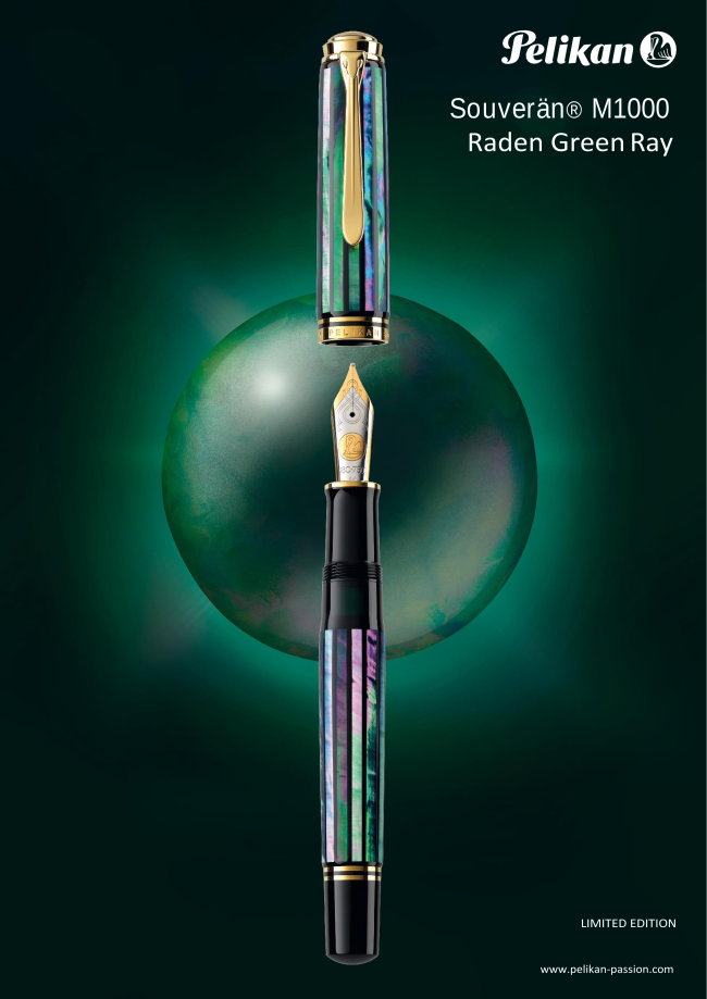 Pelikan Souverän M1000 Fountain Pen - Raden Green Ray