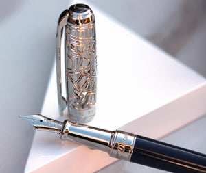 S.T. Dupont Line D Medium Fountain Pen - Paris