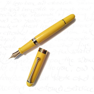 Aurora 88 Anniversary Yellow Fountain Pen With Flex Nib
