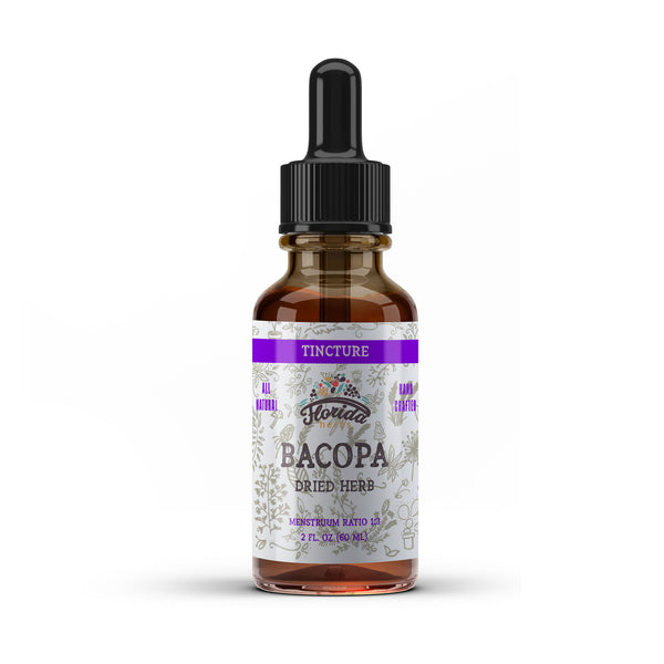 Bacopa Liquid Extract, Organic Bacopa (Bacopa Monnieri) Dried Herb Tincture Herbal Supplement, Non-GMO in Cold-Pressed Organic Vegetable Glycerin 700 mg, 2 oz (60 ml)