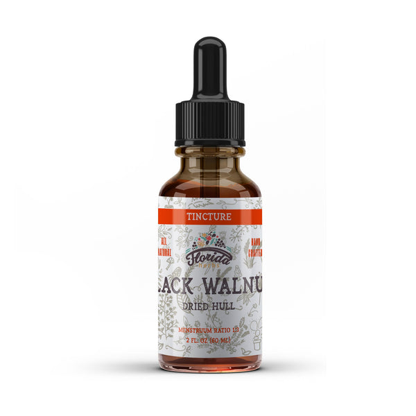 Black Walnut Tincture, Organic Black Walnut Extract  Drops (Juglans Nigra, Barberry) Dried Hull