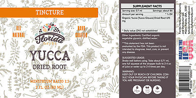 Yucca Tincture, Organic Yucca Extract (Yucca Glauca) Dried Root