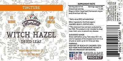 Witch Hazel Leaf Tincture, Witch Hazel Leaf Extract (Hamamelis virginia)