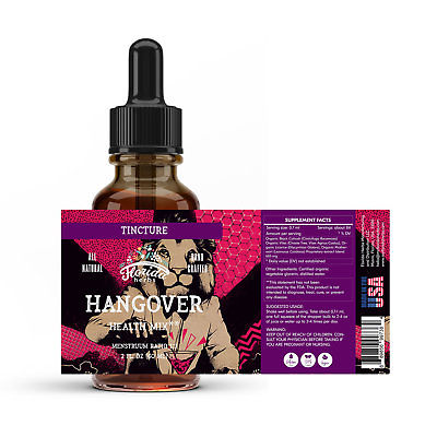Anti Hangover Tincture Extract (Anti-Alcohol Support Mix) Organic Dried Herb