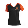 Ladies' OLK9 SPORT-TEK CAMOHEX V-Neck Wicking T-Shirt