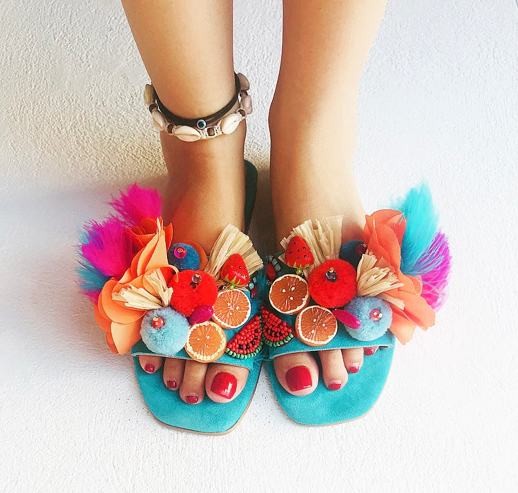 TUTTI FRUTTI Handmade Boho Sandals, [product_tags] - Let's Boho