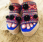 MYKONIAN BLUE Platform Sandals, [product_tags] - Let's Boho