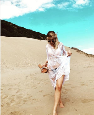 PAROS Kaftan Lace Beach Dress  *3 Colors, [product_tags] - Let's Boho
