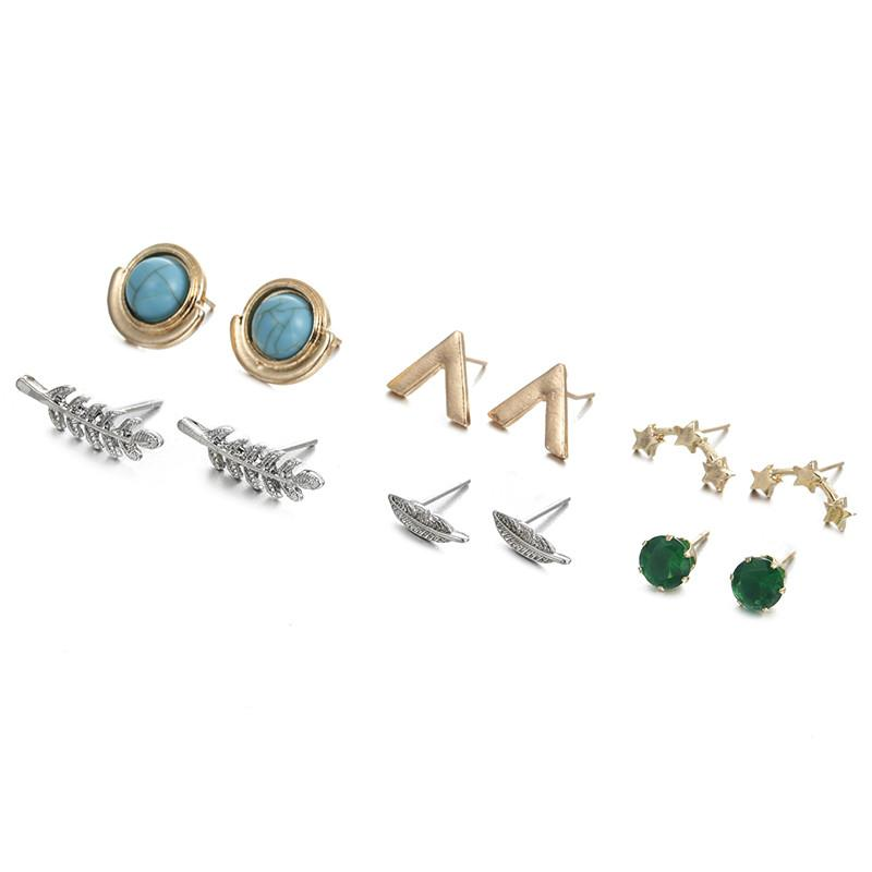 6 Pairs/Set Stud Fashion Earrings Many Styles, [product_tags] - Let's Boho