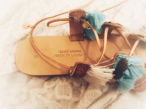 LUCKY ELEPHANT Tier Up Gladiator Leather Sandals, [product_tags] - Let's Boho