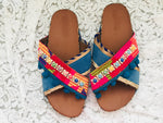 GYPSY QUEEN Handmade Leather Flatform Sandals, [product_tags] - Let's Boho