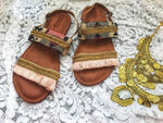 CLEOPATRA Handmade Leather Sandals, [product_tags] - Let's Boho