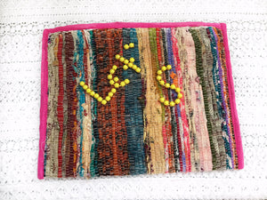 PINEAPPLE SALAD Kilim Boho Pouch Bag, [product_tags] - Let's Boho
