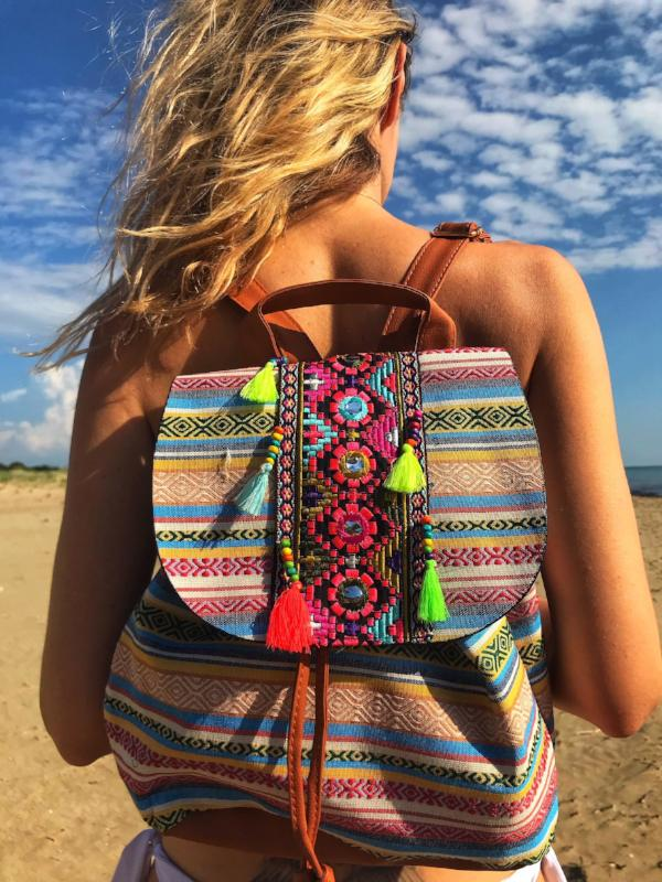 MILENA Fashion Tassel Backpack, [product_tags] - Let's Boho
