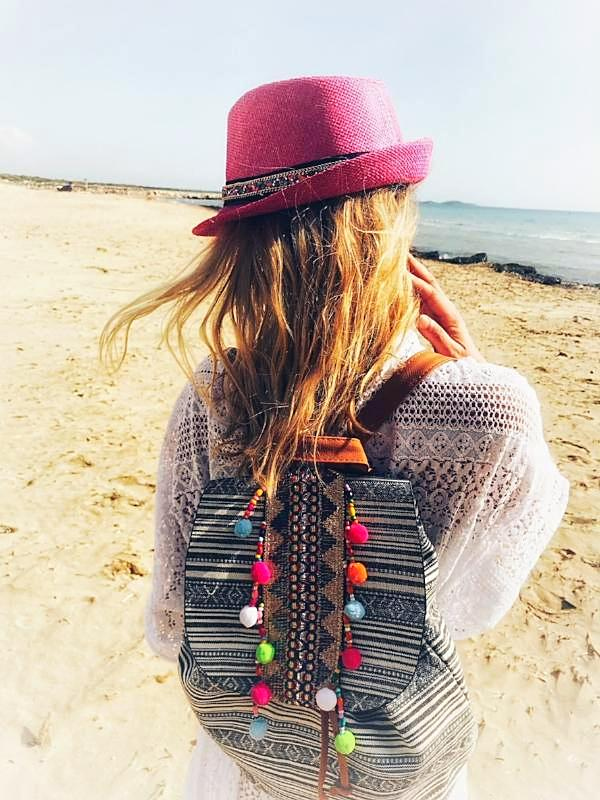 CIRCUS Fashion Pom Pom Backpack, [product_tags] - Let's Boho