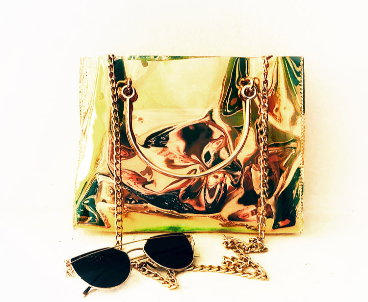 FROZEN LEMONADE Hologram Pvc Shoulder Bag, [product_tags] - Let's Boho
