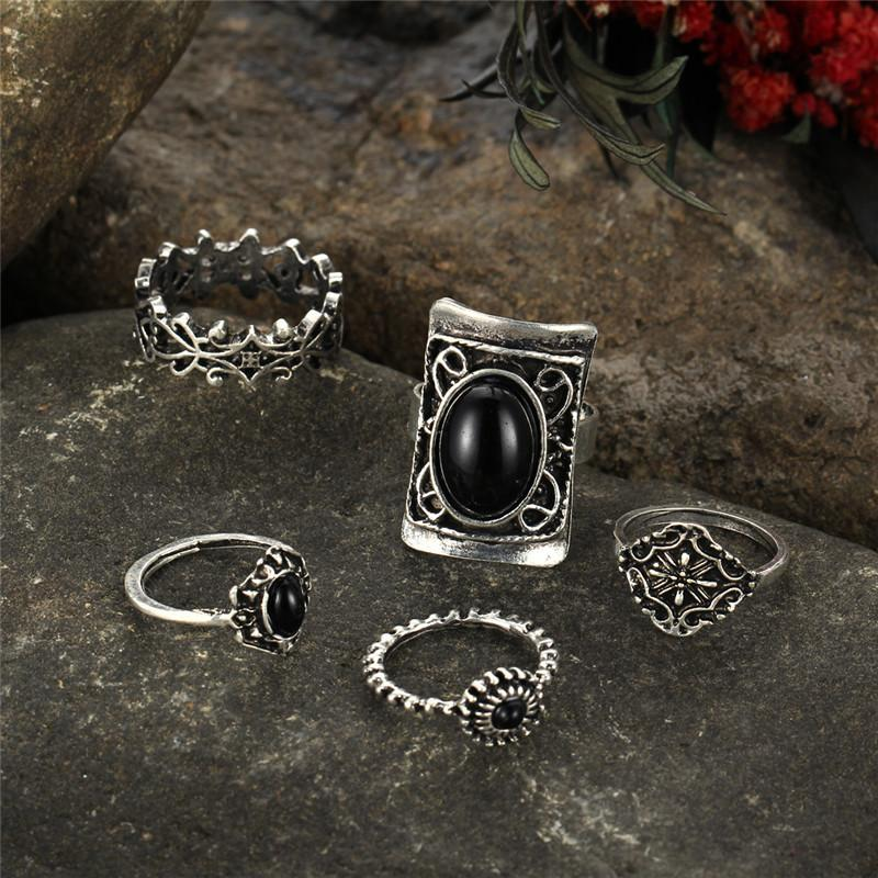 4pcs/Set Boho Midi Rings Silver Color, [product_tags] - Let's Boho
