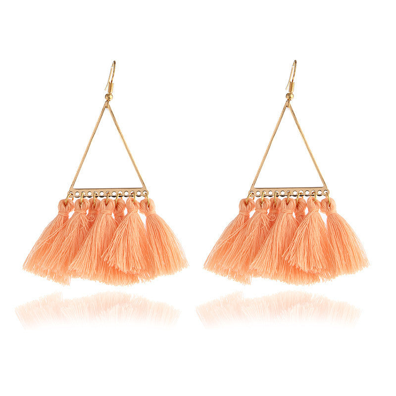 Boho Tassel earrings Peach Color, [product_tags] - Let's Boho