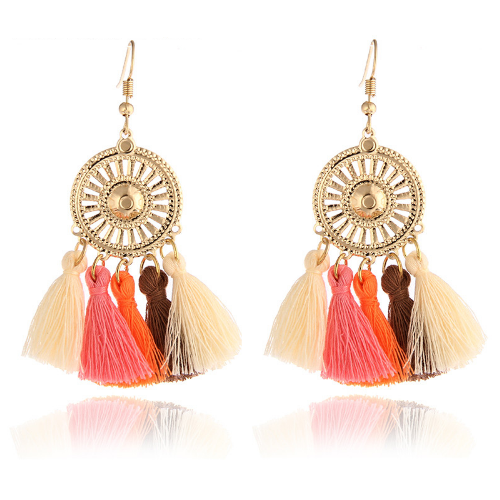 Boho Tassel Dangle Drop Earrings Multi Color, [product_tags] - Let's Boho