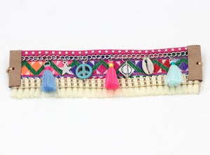 Bohemian Wrap Tassel Multicolor Bracelet, [product_tags] - Let's Boho