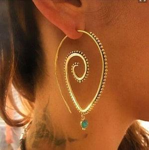 Fashion Spriral Hoop Earrings, [product_tags] - Let's Boho