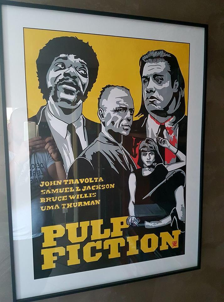 "Toile ""pulp fiction"""