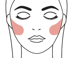 Oval Face Blush Application