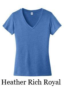 Women's Blended Jersey V-Neck Tee by Alternative Apparel