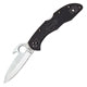 Spyderco Delica 4 Wave Folder 2.88 in Plain Black FRN Hndl