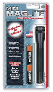 Maglite Mini 2-Cell AA Flashlight with Holster Black