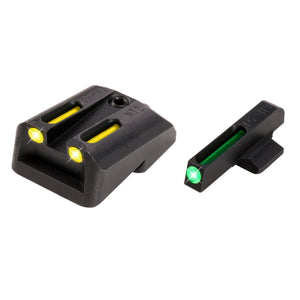TruGlo TFO .270-.500 Set Handgun Sight-Yellow