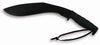 Ontario Kukri Fixed 12.0 in Black Blade Rubber Handle