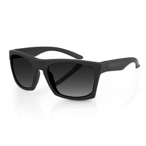 Bobster Capone Sunglasses w-Matte Black Frame and Smoked Len