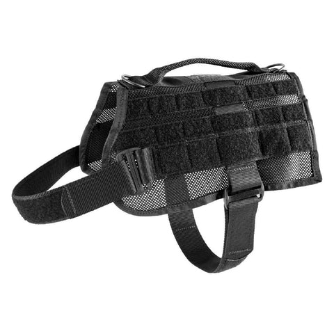 Image of US Tactical K9 MOLLE Vest - Black - Medium