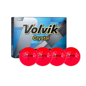 Volvik Crystal 3 Pc Golf Balls (Ruby Red)